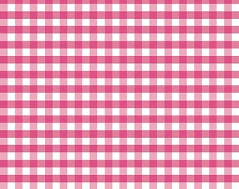 Riley Blake Designs -  1/4 inch Gingham  C450-70 - Hot Pink
