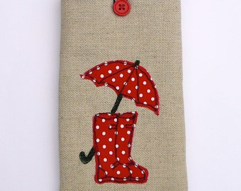 Personalised linen phone / gadget case