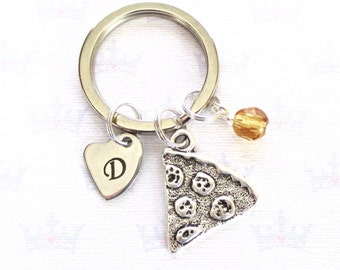 Personalised pizza slice keychain - Custom pizza slice keyring - Friendship gift - Pizza party favour - Pizza keychain - Stocking filler