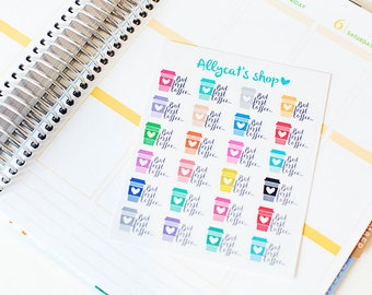 But First Coffee Stickers - Planner Stickers