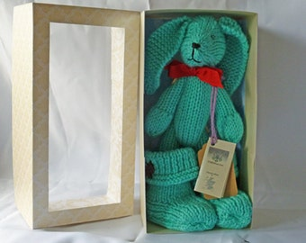On SALE!  Wool Critter with snugg boots- Aqua