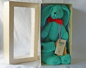 Wool Critter with snugg boots- Aqua