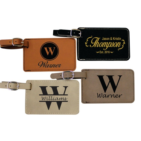 Personalized Luggage Tag Leather Engraved Luggage Tag