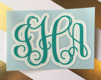 Double Layer Vine Monogram