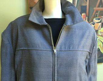 Vintage 1950s James Dean Rockabilly Jacket by Campus - Men's Large