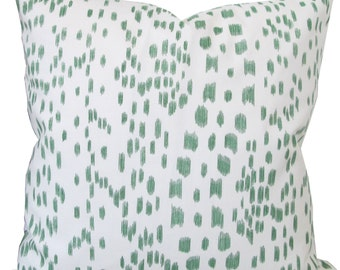 Les Touches In Green-High End Designer Decorative Pillow Cover-Brunschwig And Fils-Single Sided