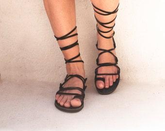 Gladiator sandals, handmade boho lace up sandals, Tie up sandals