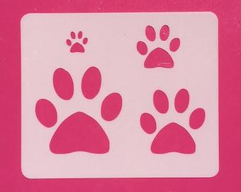 Dog Paw Stencil, Reusable  Stencil, Mylar Stencil, Dog Paw 4 Sizes