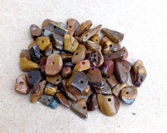 Lot 125 chips beaded stone Tiger Eye