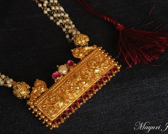 Kalyani Silver Temple Necklace