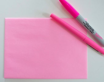 200 hot pink envelopes in bulk - A6- Wholesale Pricing