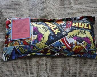 Comic Book-Super Hero Rice Bag/Boo Boo Bag
