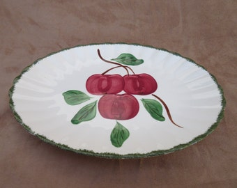 Vintage Blue Ridge Southern Pottery Apple Trio Serving Platter