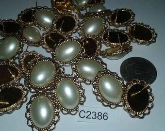 Vintage earrings lot of 3 pair c2386
