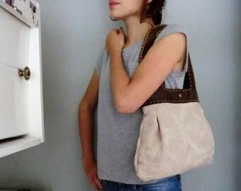 Handmade bag leather 30 ths Italian damast, chique eco Italian Dutch mode accessoires, gift for her. JJePa