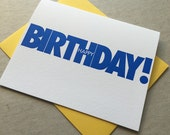"Letterpress ""Happy Birthday!"" card (#MIS017)"