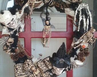 Samhain/DayoftheDead Wreath.