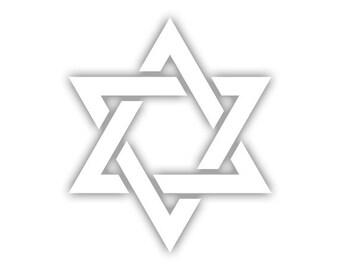 Star of David decal