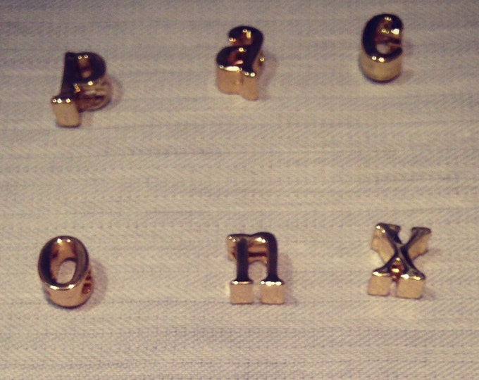 charms plated and gold letters for Saltire lucky locked