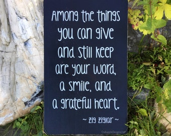 Among the Things You can Give and Still Keep