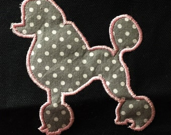 Standing dog - poodle - machine embroidery and appliqué designs in several sizes and styles.