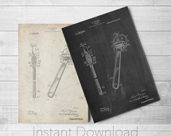 Wrench Printables, Tool Poster, Unique Gifts for Dad, Garage Art, PP0437