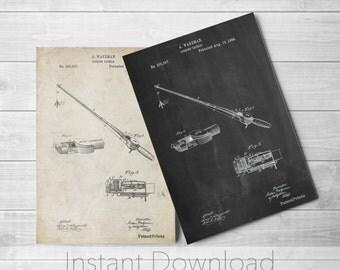 Fishing Rod Printables, Vintage Fishing, Fisherman Gift, Lake House Decor, Cabin Art, PP0490