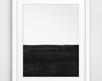 Abstract Landscape, Landscape Painting, Seascape, Abstract Seascape, Abstract Ocean, Ocean Painting, Seascape Painting, Black and White