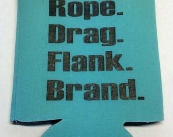 Ranch Branding Can Cooler/Western Wedding/Party Favor