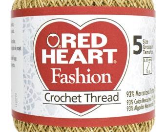 Gold with Gold Crochet Thread size 5 Red Heart, MoonDancer Crafts, Gold Crochet Knitting Tatting Craft thread