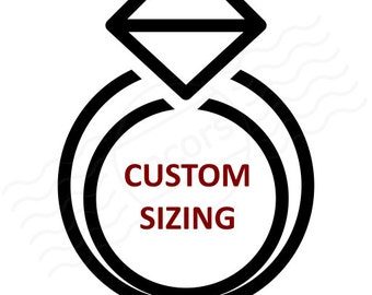 Ring Size/Custom Add-Ons