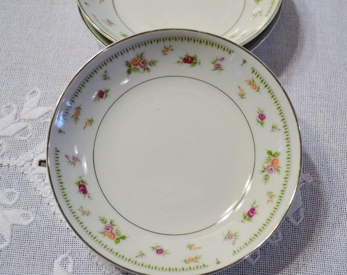 Vintage Abingdon Fine China Fruit Berry Dessert Bowl Floral Design Japan PanchosPorch