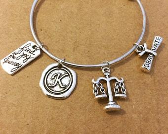 New Lawyer Adjustable charm bracelet