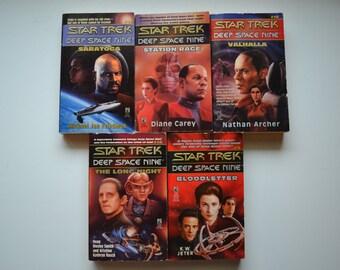Five Vintage 1990's Star Trek Deep Space Nine Novels