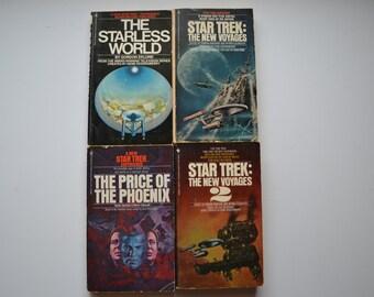 Four Vintage 1970's & Early 1980's Star Trek Novels