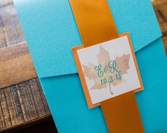 Wedding Invitation Fall Themed