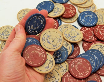 Vintage Clay Poker Chips