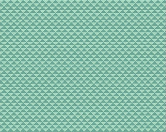 Half Yard Hazel - Triangles in Teal - Cotton Quilt Blender Fabric - Allison Harris of Cluck Cluck Sew for Windham Fabrics - 40838-7 (W3410)