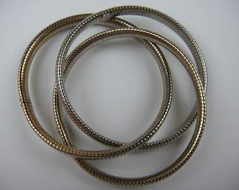 Sparkly Triple Coil Bracelet