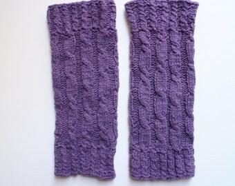 Hand knit leg warmers