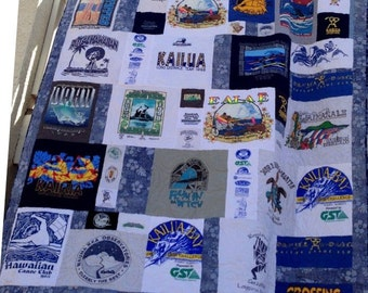 T-Shirt Quilt - Made to Order - Custom **DEPOSIT** Modern Collage T-Shirt Quilt Style - T-Shirt Memory Quilt