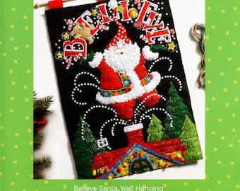 Bucilla Believe Santa ~ Felt Christmas Wall Hanging Kit #86682 European New 2016 DIY