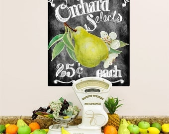 Orchard Selects Pears Wall Decal - #54448