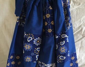 Custom Blue Quilt Girls Pillowcase Dress