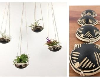 air plant hanging planter / air plant holder / star design