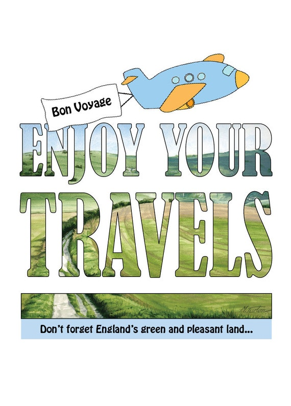 Bon Voyage Card - Enjoy Your Travels