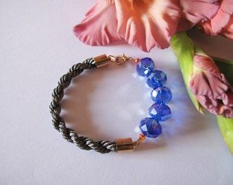 Blue crystal's bracelet