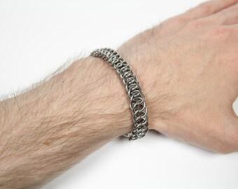 Half Persian 4 in 1 Bracelet, Chainmaille Bracelet, Stainless Steel, Chainmail Bracelet, Maille, Chain Mail, Mens Bracelet, Mens Jewelry