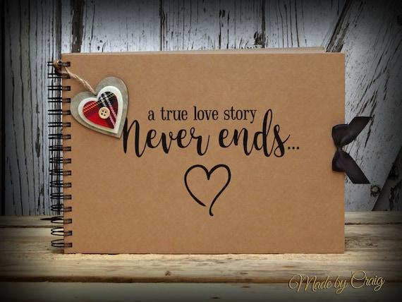 a true love story never ends a4 scrapbook photo album. Black Bedroom Furniture Sets. Home Design Ideas