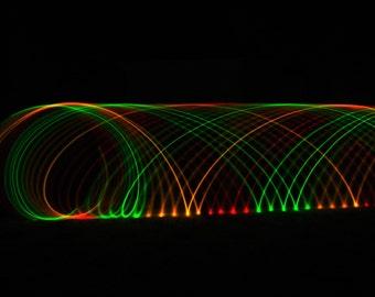 LED Rasta Hula Hoop ~ The Marley ~ One Love - Hoop Love